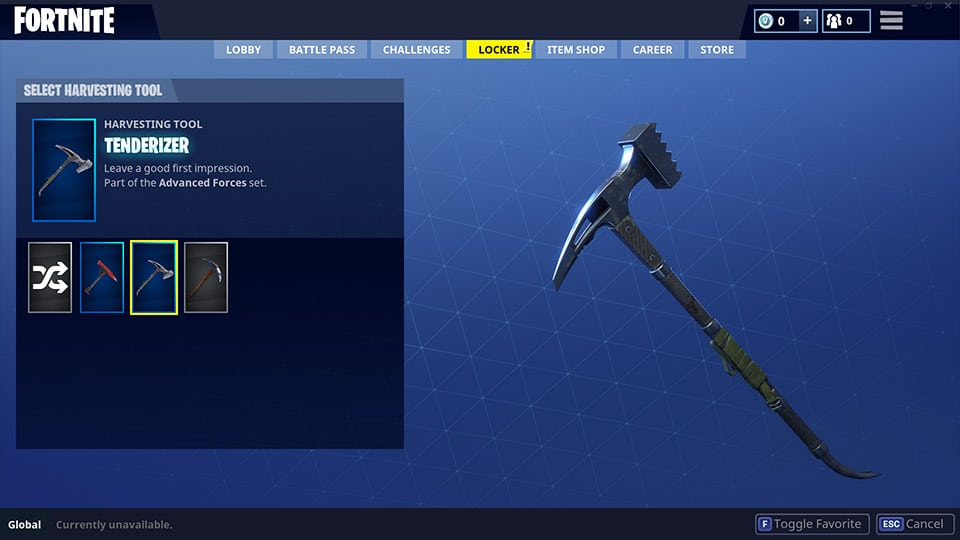 Battle Royale Tenderizer Pickaxe