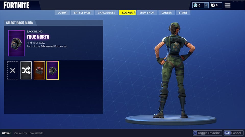 Battle Royale True North Back Bling
